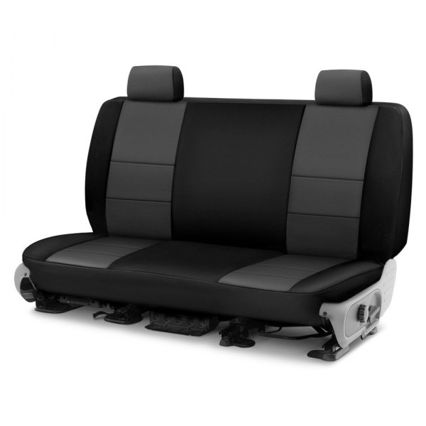 Image may not reflect your exact vehicle! Coverking® - Neosupreme 2nd Row Black & Gray Custom Seat Cover