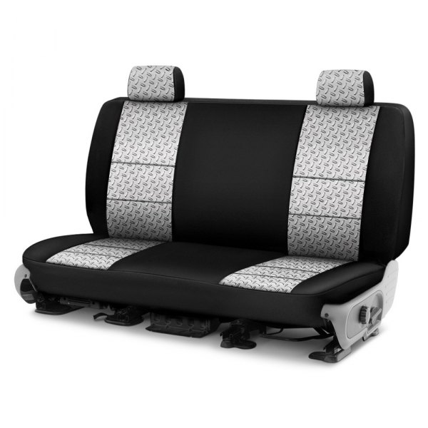 Coverking® - Designer Printed Neosupreme 2nd Row Chrome Diamond Custom Seat Cover