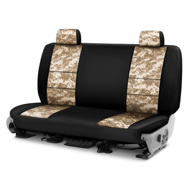 Coverking® - Digital 2nd Row Two-Tone Sand Custom Seat Covers