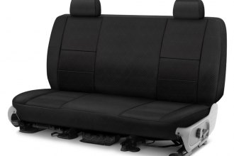 Image may not reflect your exact vehicle! Coverking® - Spacer Mesh 2nd Row Black Custom Seat Cover