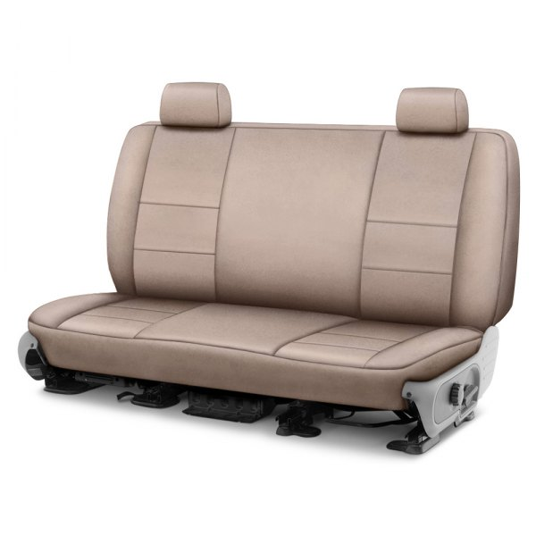 Image may not reflect your exact vehicle! Coverking® - Suede 2nd Row Beige Custom Seat Cover