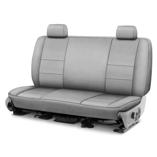 Image may not reflect your exact vehicle! Coverking® - Suede 2nd Row Gray Custom Seat Cover