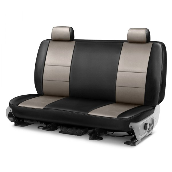 Coverking® - Premium Leatherette 2nd Row Black & Cashmere Custom Seat Cover
