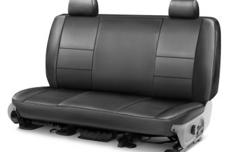 Coverking® - Premium Leatherette 2nd Row Medium Gray Custom Seat Cover