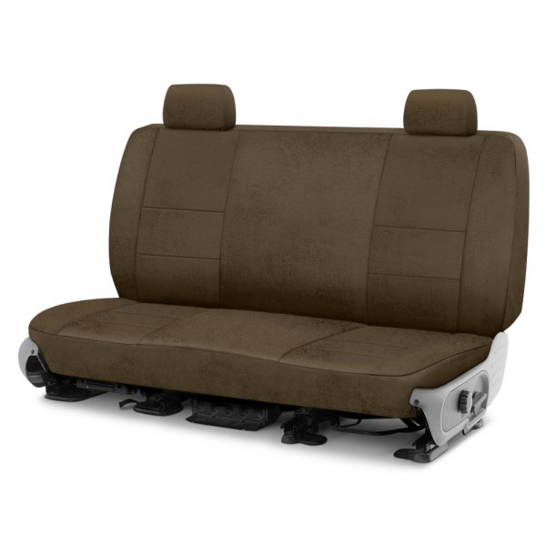Image may not reflect your exact vehicle! Coverking® - Velour 2nd Row Taupe Custom Seat Cover