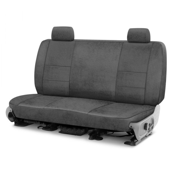 Image may not reflect your exact vehicle! Coverking® - Velour 2nd Row Gray Custom Seat Cover