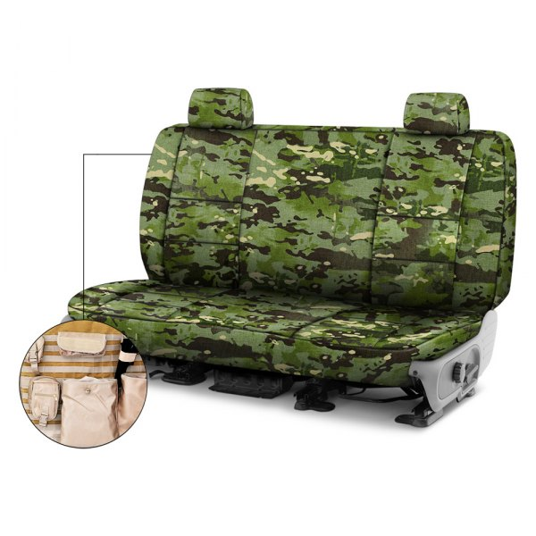 Coverking® - Multicam™ 2nd Row Tactical Camo Tropic Custom Seat Covers