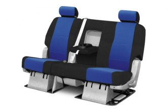 Coverking® CSC2S8TT7106 - 2nd Row Spacer Mesh Custom Blue Seat Covers with Black Sides