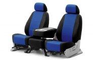 Coverking® CSC2S8CH8642 - 1st Row Spacer Mesh Custom Blue Seat Covers with Black Sides (SS)
