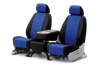 Coverking® CSC2S8SU9340 - 1st Row Spacer Mesh Custom Blue Seat Covers with Black Sides