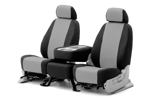 Coverking® - 1st Row Spacer Mesh Custom Gray Seat Covers with Black Sides
