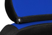 Coverking® - Spacer Mesh Custom Blue Seat Headrest Cover with Black Sides