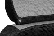 Coverking® - Spacer Mesh Custom Gray Seat Headrest Cover with Black Sides
