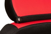 Coverking® - Spacer Mesh Custom Red Seat Headrest Cover with Black Sides