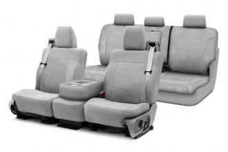 Image may not reflect your exact vehicle! Coverking® - Suede Custom Seat Covers Two Rows