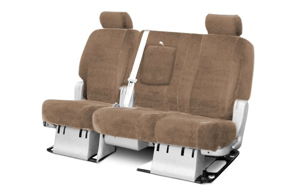 Coverking® - 2nd Row Suede Custom Beige Seat Covers