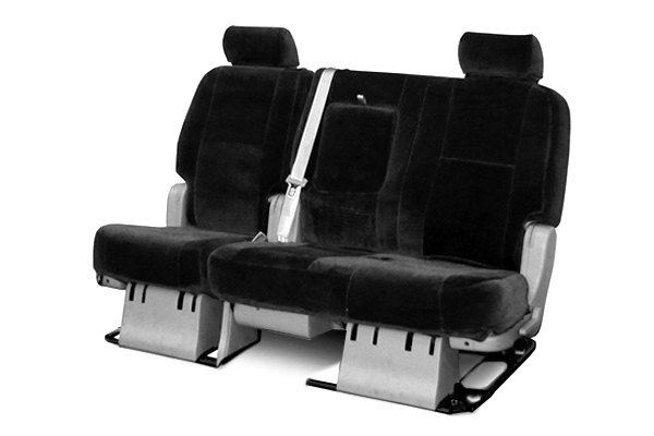 Coverking® - 2nd Row Suede Custom Black Seat Covers