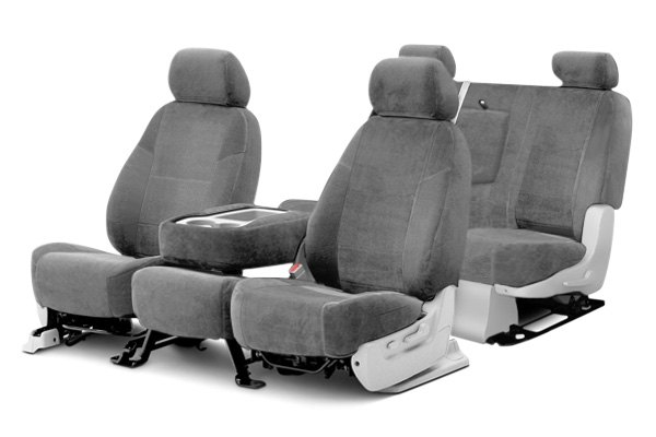 Coverking® - Suede Custom Gray Seat Covers