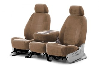 Coverking® CSCC12LX7019 - 1st Row Suede Custom Beige Seat Covers