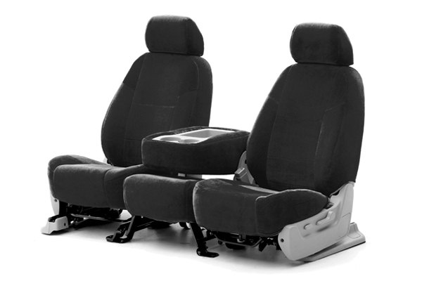 Coverking® - 1st Row Suede Custom Charcoal Seat Covers