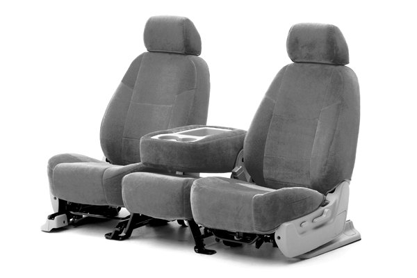 Coverking® - 1st Row Suede Custom Gray Seat Covers
