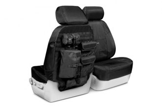 Coverking® CTSC1E1IN7025T - 1st Row Ballistic Tactical Custom Black Seat Covers