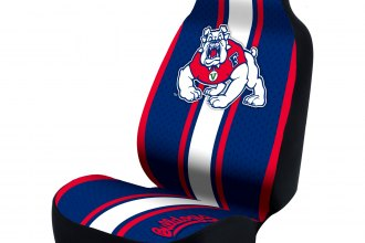 Coverking® USCSELA034 - Collegiate Seat Cover (Fresno State Logos ...