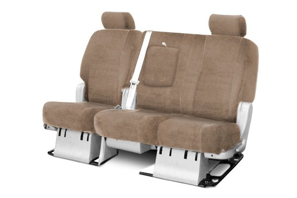 Coverking® - 2nd Row Velour Custom Beige Seat Covers