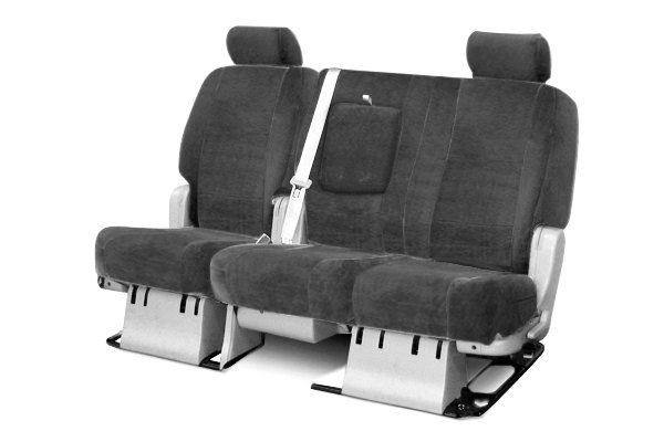 Coverking® - 2nd Row Velour Custom Charcoal Seat Covers