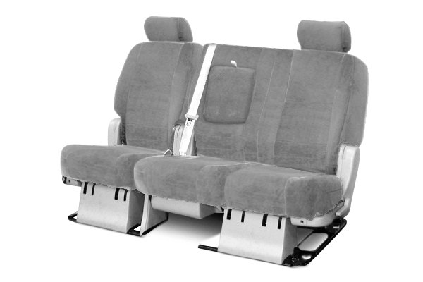 Coverking® - 2nd Row Velour Custom Gray Seat Covers