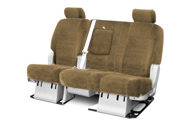 Coverking® - 2nd Row Velour Custom Tan Seat Covers