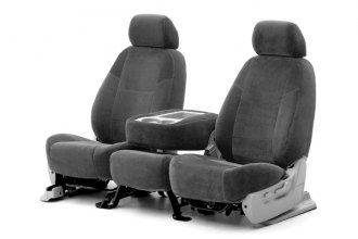 Coverking® CSCV2CH7020 - 1st Row Velour Custom Charcoal Seat Covers
