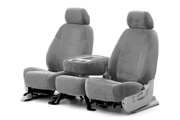 Coverking® - 1st Row Velour Custom Gray Seat Covers