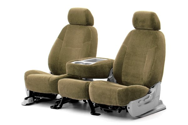 Coverking® - 1st Row Velour Custom Tan Seat Covers