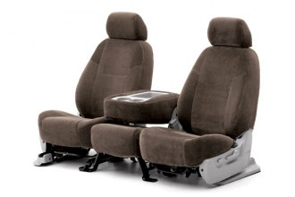 Coverking® CSCV15BK7143 - 1st Row Velour Custom Taupe Seat Covers