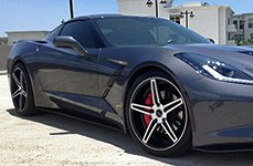 CRAY® - BRICKYARD Matte Black with Machined Face on Chevy Corvette