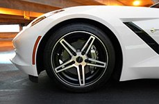 CRAY® - BRICKYARD Matte Black with Machined Face on Chevy Corvette - Front Wheel
