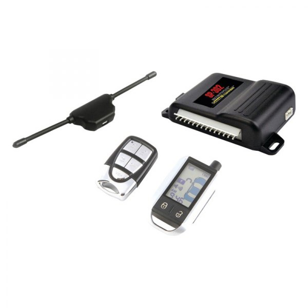 Crimestopper® - 2-Way LCD Paging Alarm and Keyless Entry System with Rechargeable Remote