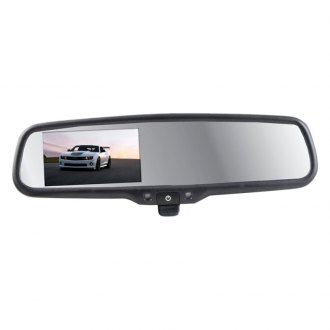 "Crimestopper® - OE Style Rear View Mirror with 4.3"" LCD Display and Manual Dimming Switch"
