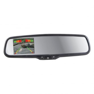 "Crimestopper® - OE Style Rear View Mirror with 4.3"" LCD Display and Front Facing DVR"