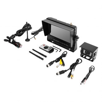 "Crimestopper® - Wireless Rear View System with 7"" Monitor and Surface Mount Camera"