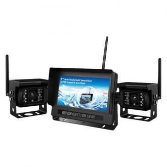 "Crimestopper® - Dual Channel Wireless Rear View System with 7"" Monitor and Surface Mount Camera"