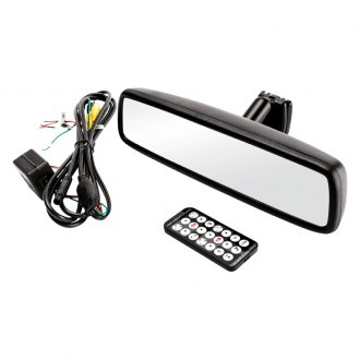 "Crimestopper® - Factory Style Rear View Mirror with Built-in 4.3"" Monitor"