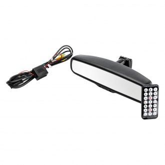 "Crimestopper® - Replacement Auto Dimming Rear View Mirror with Built-in 4.3"" Monitor"