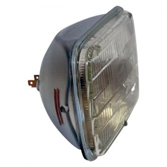 "Crown® - 7x6"" Rectangular Chrome Factory Style Sealed Beam Headlight"