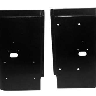 Crown® - Driver and Passenger Side Black Metal Rear Corner Panel