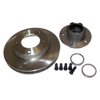 Crown® - 1-Piece Front Brake Rotor and Hub Assembly