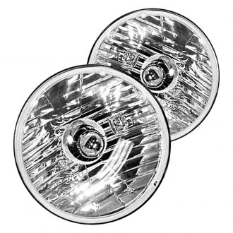 "Crown® - 7"" Round Chrome Factory Style Composite Headlights"