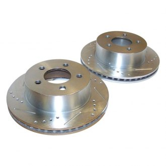 Crown® - Drilled and Slotted Vented 1-Piece Front Brake Rotors