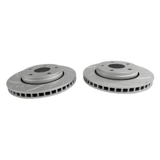 Crown® - Disc Brake Rotor Set Drilled and Slotted